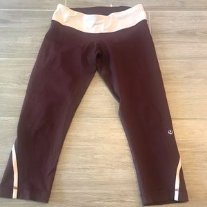 Maroon lulu leggings